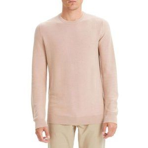 Theory Riland Breac Wool Sweater in Lotus